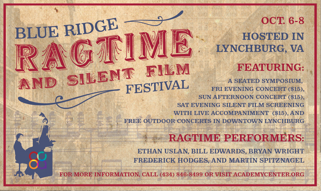 Blue                       Ridge Ragtime And Silent Film Festival