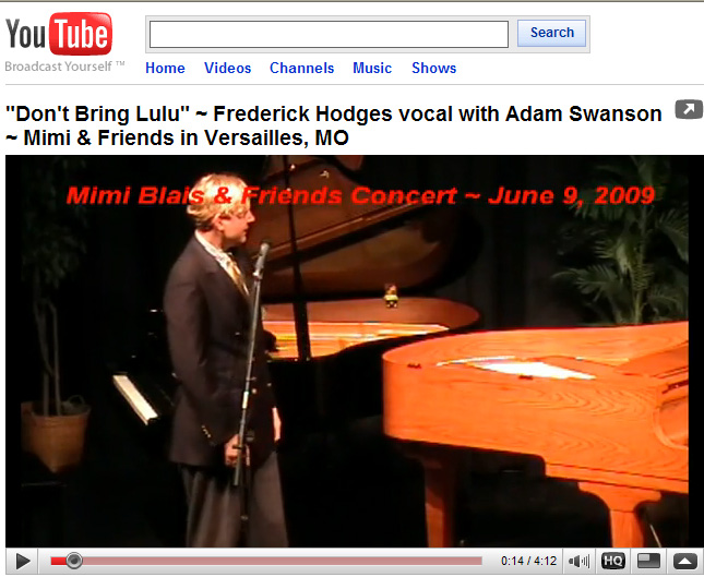 Frederick Hodges sings Don't                       Bring Lulu in Versailles