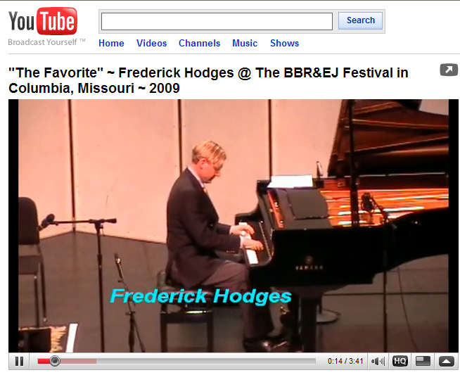 Frederick Hodges plays The                     Favorite