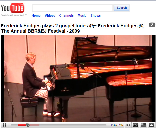 Frederick Hodges plays two Negro                     spirituals