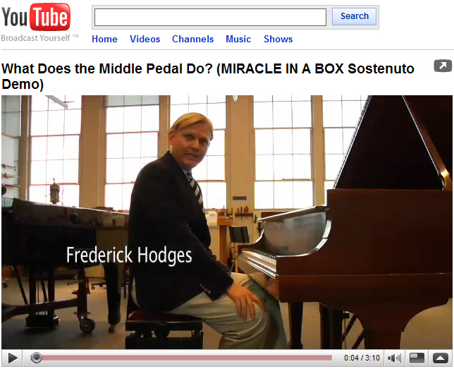 Sostenudo Pedal Demonstration                       with Frederick Hodges